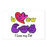 I-L-Y My Cat Postcards (Package of 8)