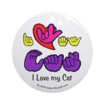 I-L-Y My Cat Ornament (Round)