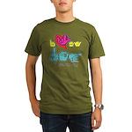 I-L-Y My Dog Organic Men's T-Shirt (dark)