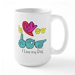 I-L-Y My Dog Large Mug