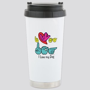 I-L-Y My Dog Stainless Steel Travel Mug