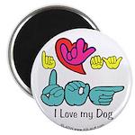 I-L-Y My Dog Magnet