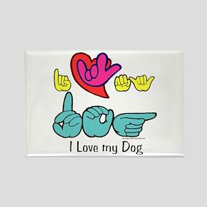 I-L-Y My Dog Rectangle Magnet