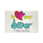 I-L-Y My Dog Rectangle Magnet (100 pack)