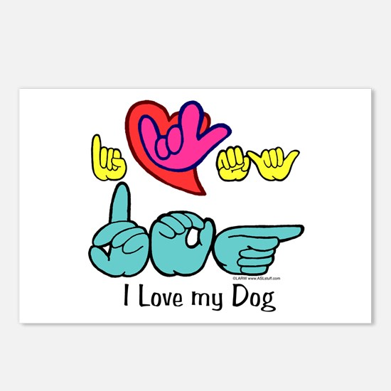I-L-Y My Dog Postcards (Package of 8)