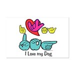 I-L-Y My Dog Mini Poster Print