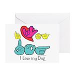 I-L-Y My Dog Greeting Card