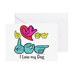 I-L-Y My Dog Greeting Cards (Pk of 20)