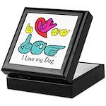 I-L-Y My Dog Keepsake Box