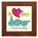 I-L-Y My Dog Framed Tile