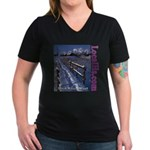 Find Your Way Women's V-Neck Dark T-Shirt