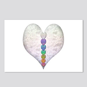 Chakra Hearts Postcards (Package of 8)