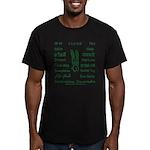 Hello around the world Men's Fitted T-Shirt (dark)