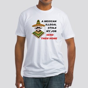 RETURN ILLEGAL CONVICTS Fitted T-Shirt