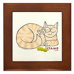 Orange Tabby ASL Kitty Framed Tile