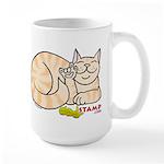 Orange Tabby ASL Kitty Large Mug