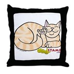 Orange Tabby ASL Kitty Throw Pillow