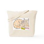 Orange Tabby ASL Kitty Tote Bag
