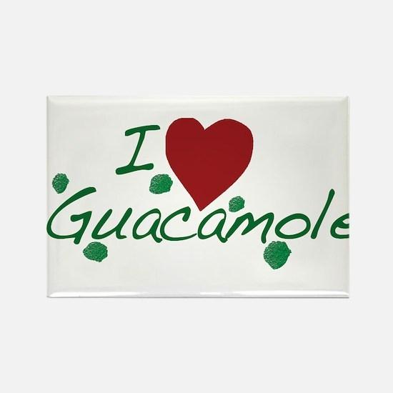 I Love Guacamole Rectangle Magnet