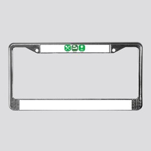 Eat Sleep GOLF License Plate Frame