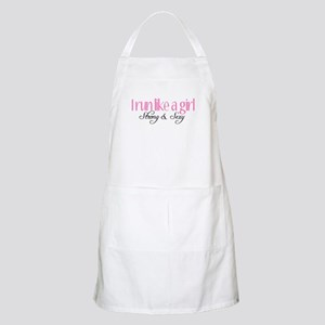 I run like a girl strong Sexy Apron