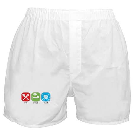 Eat Sleep Knit Boxer Shorts