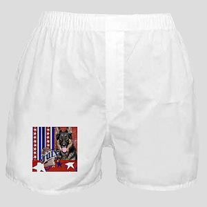 July 4th Firecracker Shepherd Boxer Shorts