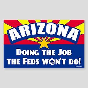 Doing Job the Feds Won't Do Sticker (Rectangle)