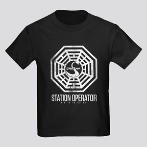 Swan Station Operator Kids Dark T-Shirt