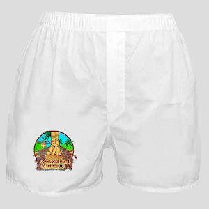 John Locke Smoke Monster! Boxer Shorts