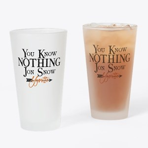 GOT You Know Nothing Jon Snow Drinking Glass