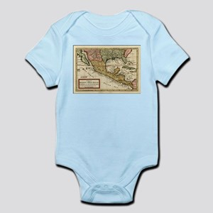 Vintage Map of Mexico (1708) Body Suit