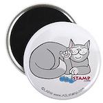 Gray/White ASL Kitty Magnet