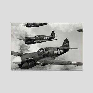 P-40 Squadron Rectangle Magnet