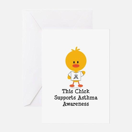 Asthma Awareness Chick Greeting Card