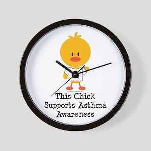 Asthma Awareness Chick Wall Clock