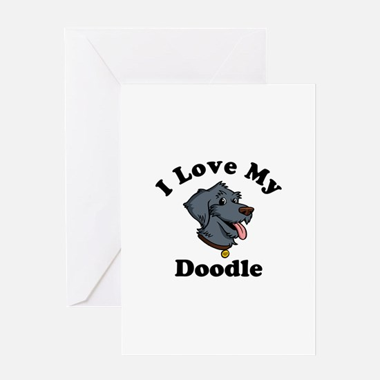 I Love My Doodle Greeting Card