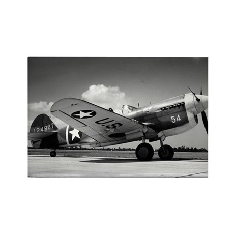 P-40 Waiting To Go Rectangle Magnet (10 pack)