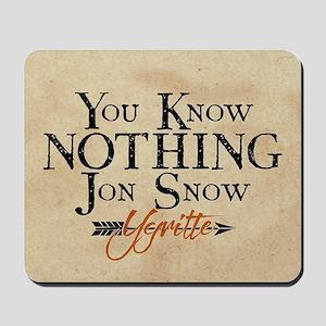 GOT You Know Nothing Jon Snow Mousepad