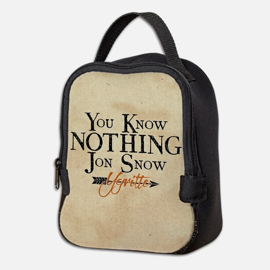 GOT You Know Nothing Jon Snow Neoprene Lunch Bag