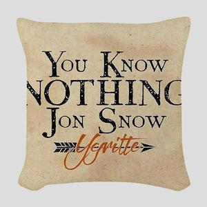GOT You Know Nothing Jon Snow Woven Throw Pillow