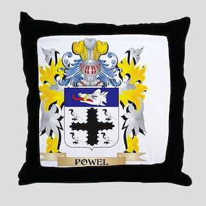 Powel Family Crest - Coat of Arms Throw Pillow