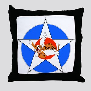 Air Force Flying Tigers Throw Pillow