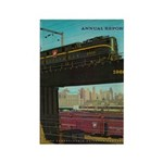 PENNA. RAILROAD 1960 Cover Rectangle Magnet (10 pa