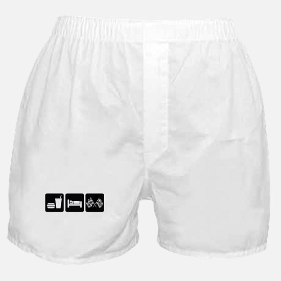 Eat Sleep Race Boxer Shorts