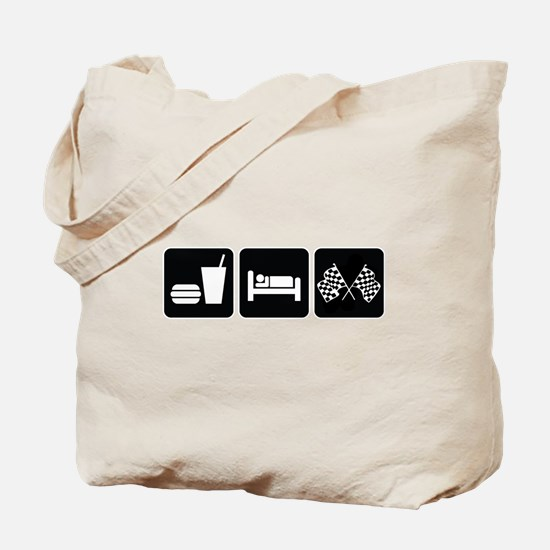 Eat Sleep Race Tote Bag