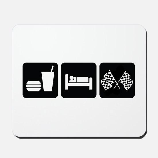 Eat Sleep Race Mousepad