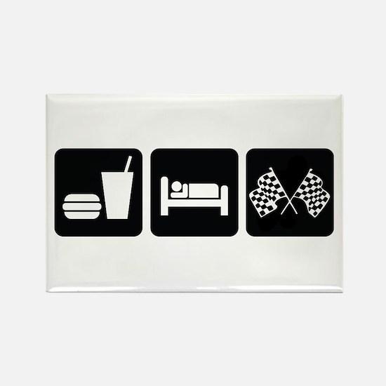 Eat Sleep Race Rectangle Magnet