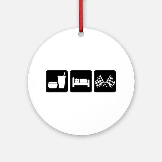 Eat Sleep Race Ornament (Round)