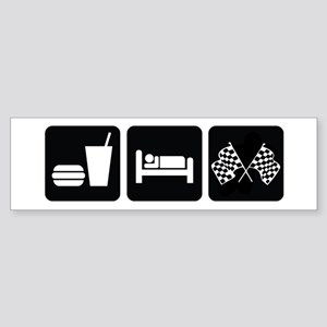 Eat Sleep Race Sticker (Bumper)